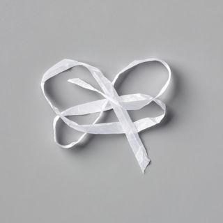 1/4インチ(6.4 Mm)・クリンクルド・シームバインディングリボン・ウィスパーホワイト(イメージ)