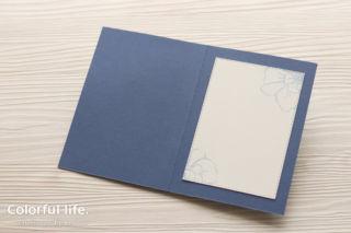 台紙を追加したカード(中面:トゥー・ア・ワイルドローズ)