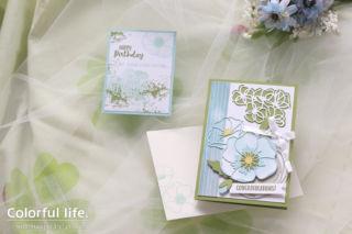 春に贈るお祝いカード(横:ピースフルポピー)