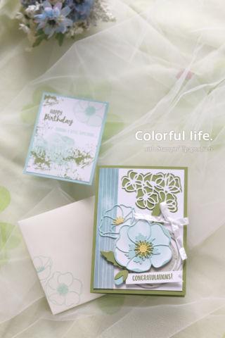 春に贈るお祝いカード(縦:ピースフルポピー)