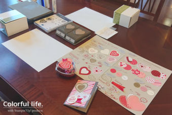 【1月クラスの様子】バレンタインのカード&ラッピングセット