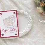 【スタンプ・色塗り】お誕生日のケーキカード
