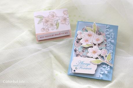 【スタンピン・アップ 3月クラス /渋谷:木曜日】桜のカードセット