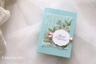 桜のエレガントカード(横:フォーエバー・ブロッサム)