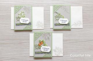 ボタニカルなガーデンカード2(封筒&カード:ボタニカルプリント)
