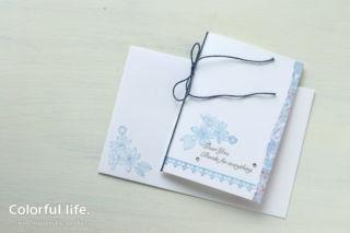 大人なあの方へ、シンプルなお礼カード/色塗り(縦:ファンシフル・フレグランス)