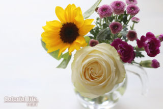 届いたお花(初めてのbloomeelife)