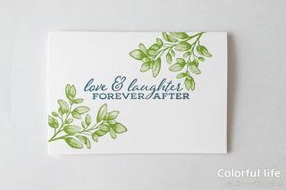 葉っぱいっぱいのお祝いカード/スタンプ順序1(フォーエバー・ファーン)