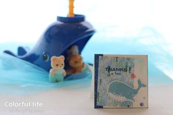 【カンタン・スタンプ】ちょっとの時間でササッと、クジラちゃんのミニTHANK YOUカード