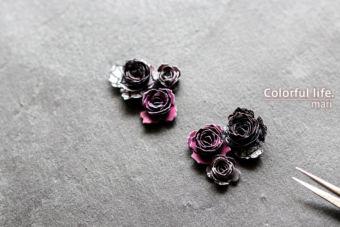ハロウィンのペーパーで薔薇ちゃんを作ったら、すごぉ~くお耽美/おまけネタは、他社の薔薇ダイあれこれ