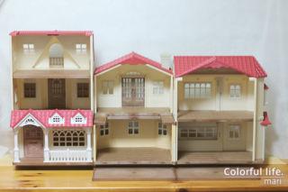 赤い屋根のお家(3件分)