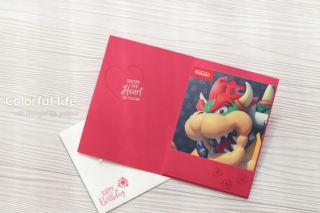 ハートが大好きな方へ、ギフトカードが入れられるバースデーカード(中面:ハートフェルト)