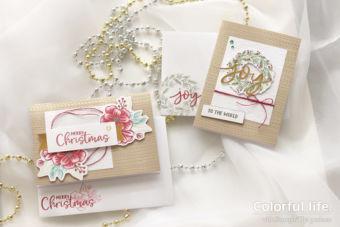 【カンタン・カードキットのポイント】ジョイ・トゥー・ザ・ワールドのクリスマスカード