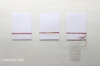 リースのカード作り方画像a(ジョイ・トゥー・ザ・ワールド)