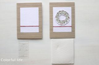 リースのカード作り方画像b(ジョイ・トゥー・ザ・ワールド)