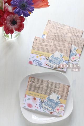 キットにused品をプラス♪お花とタイプライターのカード(縦:ハピネスリブズヒア/CTMH)