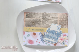 キットにused品をプラス♪お花とタイプライターのカード(アップ:ハピネスリブズヒア/CTMH)