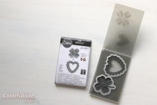 Tim Holtz Sizzix LUCKY LOVE 3D Impresslits Cut and Emboss Folder 665227