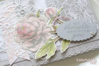 少しだけふっくら♪ピオニーの色塗りカード(アップ:プライズド・ピオニー/スタンピンアップ)
