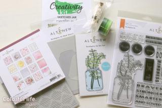 Sketched Jar Creativity Cardmaking Kit/Altenew
