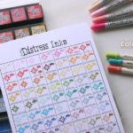 やっと作ったDistressの色見本、収納と一緒にチラ見せ