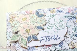 ホワイトグランドを生かして、お花いっぱいのカード(アップ:HAND-PENNED/スタンピンアップ)